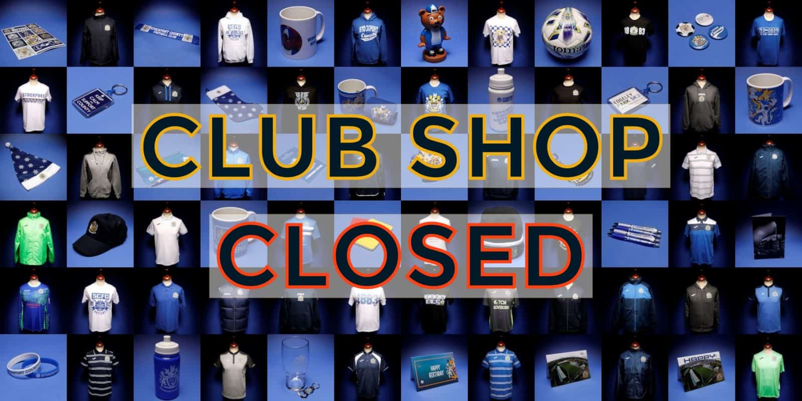 club shop closed on friday stockport county. Black Bedroom Furniture Sets. Home Design Ideas