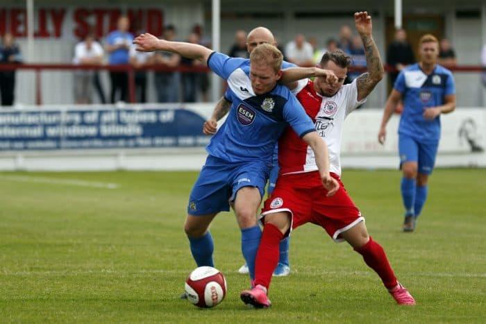 Adam Etches, Ashton United v Stockport County