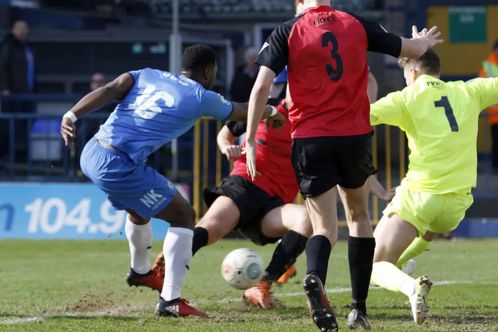 Darren Stephenson, Stockport County 1-0 Telford, 14.4.18