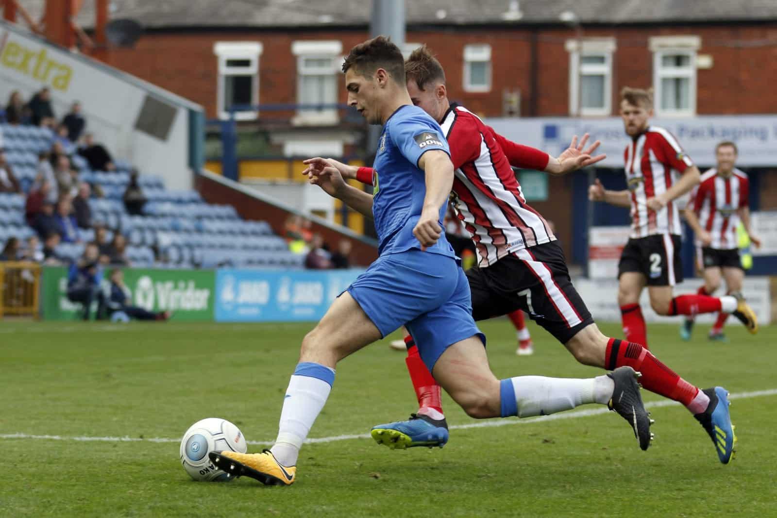 Scott Duxbury. Stockport County FC 2-0 Altrincham FC. Emirates FA Cup