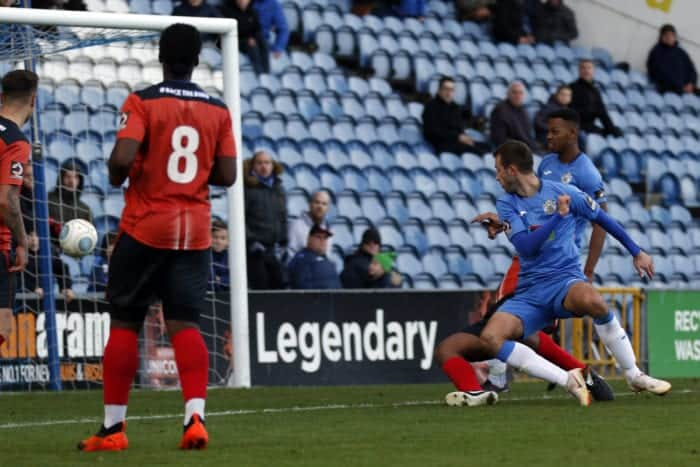 Adam Thomas. Stockport County FC 2-2 Nuneaton FC, 271018