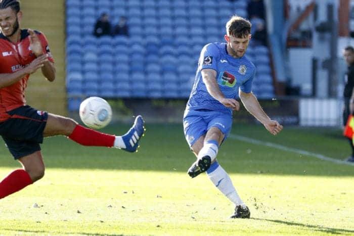 Jamie Stott. Stockport County FC 2-2 Nuneaton FC, 271018