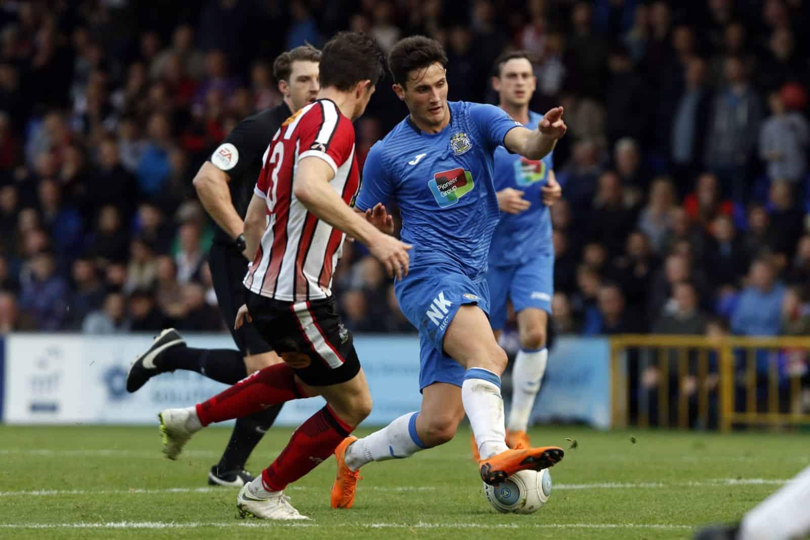 Elliot Osbourne. Stockport County FC 2-0 Altrincham FC. Emirates FA Cup