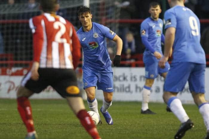 Elliot Osbourne on the ball, Altrincham 0-1 Stockport County, 15.12.18