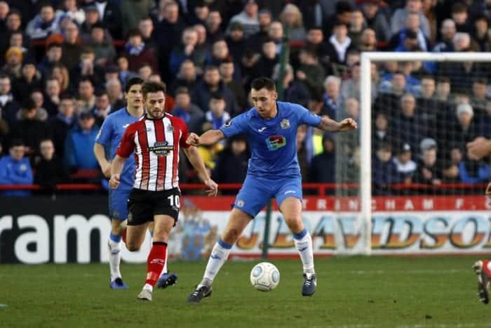 Jordan Keane. Altrincham FC 0-1 Stockport County FC. Vanarama National League North. 1.1.19