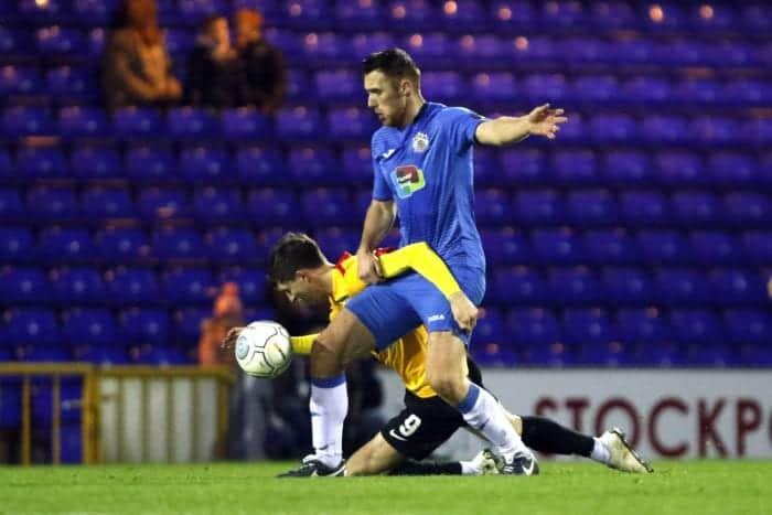 Jordan Keane. Stockport County FC 3-0 Bradford Park Avenue FC. Vanarama National League North. 5.1.19