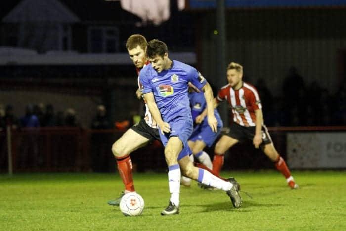 Jake Kirby. Altrincham FC 0-1 Stockport County FC. Vanarama National League North. 1.1.19