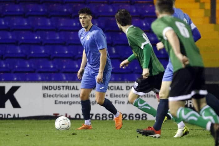 Elliot Osborne. Stockport County FC 1-0 1874 Northwich FC. Cheshire FA Senior Cup. 8.1.19