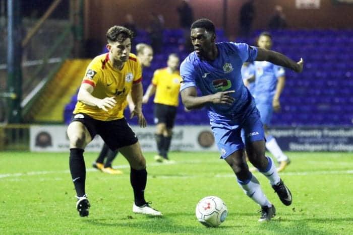 Darren Stephenson. Stockport County FC 3-0 Bradford Park Avenue FC. Vanarama National League North. 5.1.19