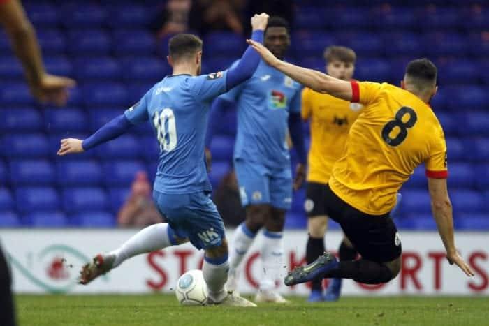 Matty Warburton. Stockport County FC 3-0 Bradford Park Avenue FC. Vanarama National League North. 5.1.19