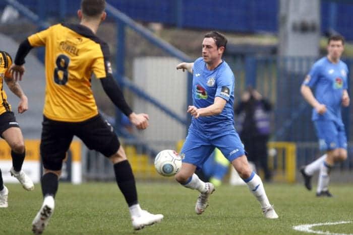 Sam Walker on the ball for Stockport
