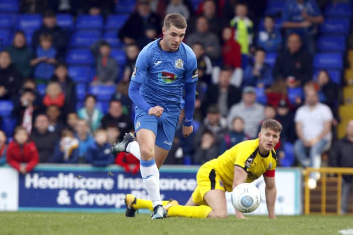 Jason Gilchrist on the ball for Stockport