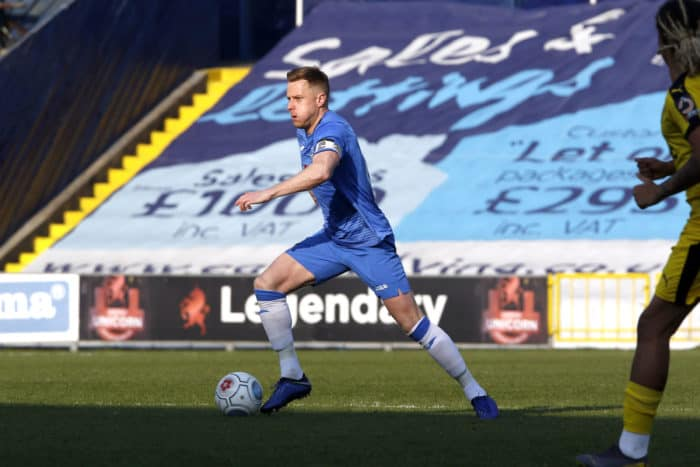 Paul Turnbull on the ball for Stockport_