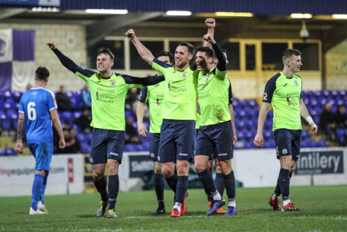 Jordan Keane scores for Stockport County against Chester.