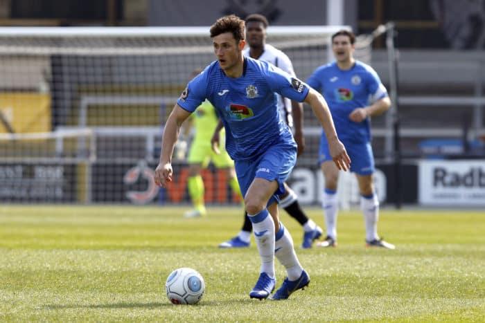 Elliot Osborne. Hereford FC 2-2 Stockport County FC. Vanarama National League North. 6.4.19