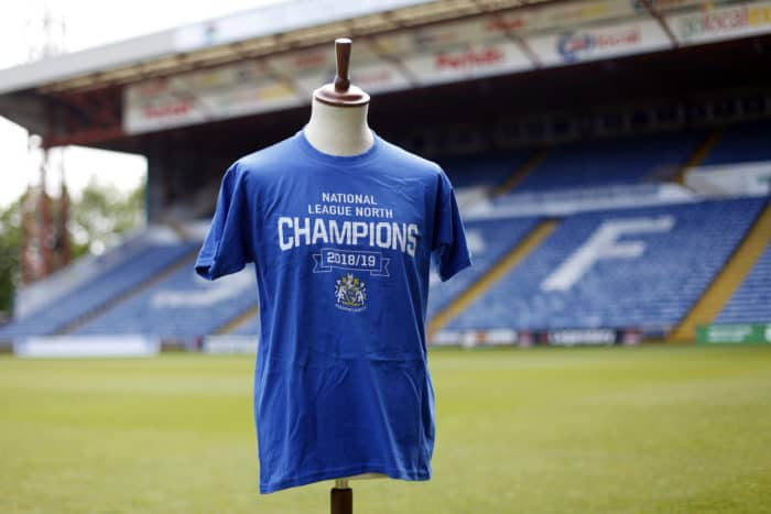 Commemorative Championship Merchandise on sale! - Stockport