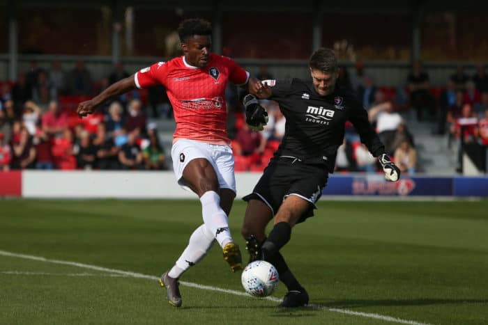 Rodney joins County on loan from Salford City.
